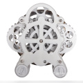 Silver gear table clock kids clock